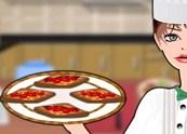 הכנת פיצה מלחם צרפתי